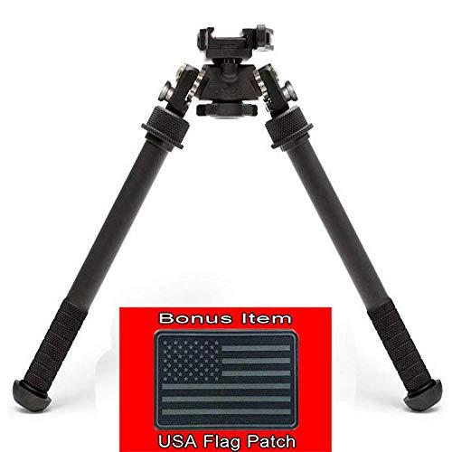 Authentic Atlas Bipod BT47LW17 w/ADM 170-S Lever (w/Bonus Hook & Loop USA Black Flag Patch)