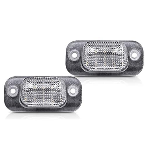 WYYUE 1 par LED Número de matrícula Lámpara de luz, Luces de matrícula de Coche Compatible con VW Polo 3 Klassische Variante Golf 3 1H1 GTI R32 Für Seat Ibiza 6K Cordoba Impermeable