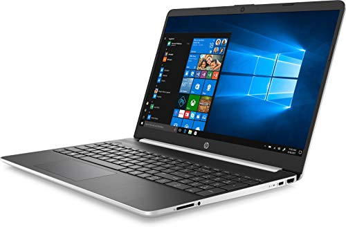 "HP 15-dy1048nr 15.6"" HD Notebook - Intel Core i7-1065G7 1.3GHz - 8GB RAM - 256GB PCIe SSD - Webcam - Windows 10 Home - Natural Silver/Black"