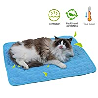 ペットマット 犬猫用クールマート 接触冷感 熱中症対策 冷却パッド 冷却毛布犬 快眠 洗える アイスシルクパッド 長さ50~102cm