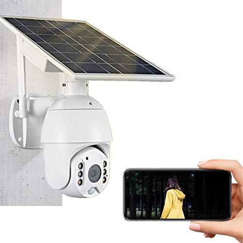 Yunhigh-uk Solar Überwachungskamera Wireless Outdoor, 1080P HD Webcam WiFi Wasserdicht mit Solarpanel Eingebautes Mikrofon und Lautsprecher, Ton- und Lichtalarm, Zweiwege-Sprachsprechanlage