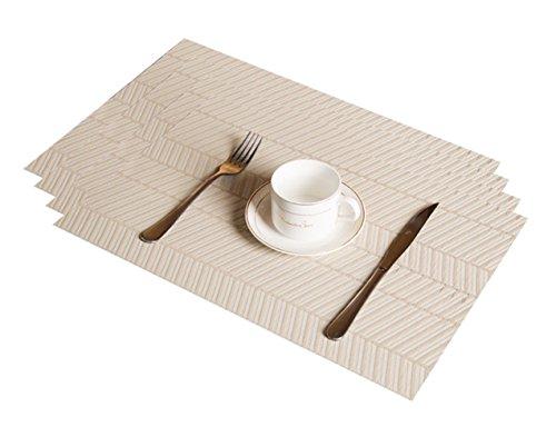 Mangrove MEISHANG 12PCS Sets De Table Lavables,Sets De Table R/ésistants A La Salet/é,Sets De Table R/ésistants A La Chaleur,Set De Table De No/ël Set De Table,Tapis De Table De No/ël