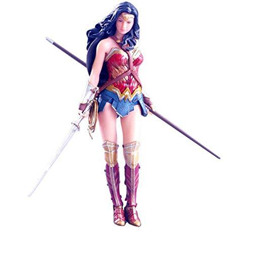 BOBLI 19CM Justice League Kotobukiya Wonder Woman Figura de Mano Estatua Tiene un diseño único y una colección de decoración de...