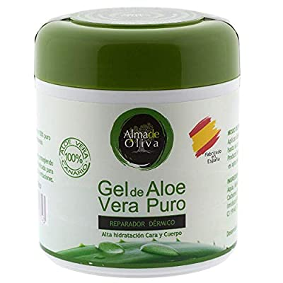 Pure Aloe Vera 100% natural moisturizing gel 500 ml for skin irritated by shaving and shaving/Sunburn and insect bites. Facial and Body Use by Rc Ocio
