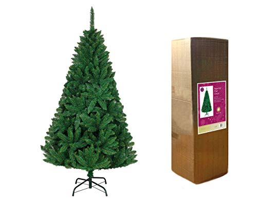 SHATCHI 1,2 m zielona krzaczasta imperialna sosna sztuczna luksusowa choinka na zawiasach gałązki 308 Końcówki ołówkowe z metalowym stojakiem Boże Narodzenie dekoracje do domu, 4 stopy / 120 cm