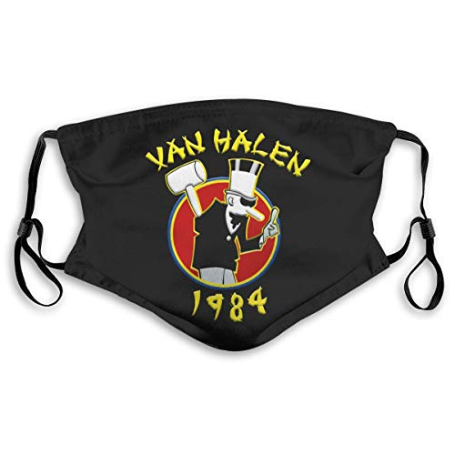 Van Halen 1984 Face Mask, Protective 5-Layer Activated Carbon Filters, Adult Size