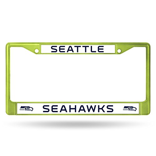 NFL Rico Industries Standard Chrome License Plate Frame, Seattle Seahawks - Green