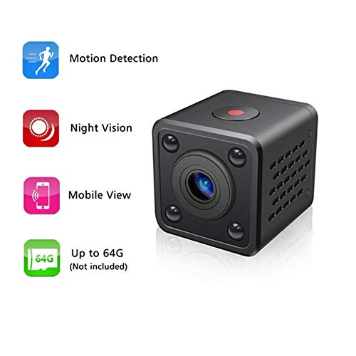 LNLJ Mini-camera, verborgen, 1080p, voor veiligheid, nachtzicht, draagbaar, magnetisch lichaam, huis, perfect verborgen camera, auto, kantoor, buiten