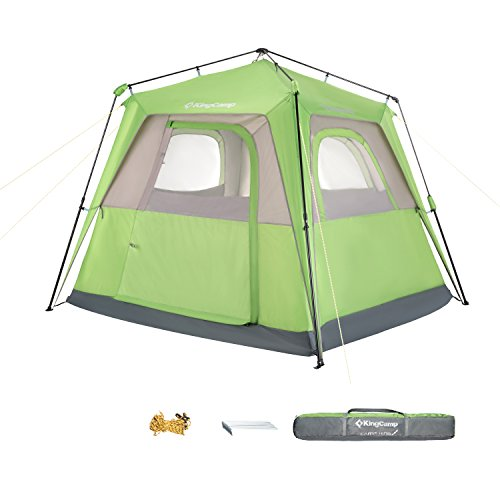 KingCamp Easy Up Double Layer Multi Purpose 3-4 Person UV Protection Breathable Waterproof Canopy Camping Tent