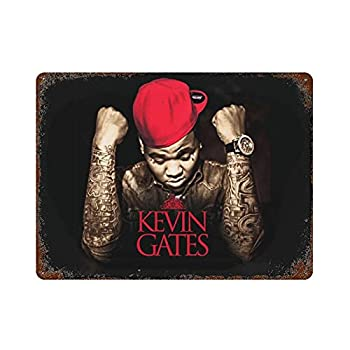 Kevin Gates Metal Sign Iron Hanging Plate Vintage Wall Decor Iron Painting Plaque Poster Home Wall Farm House Novelty Gift for Women Men Teens 11.8 ×15.7