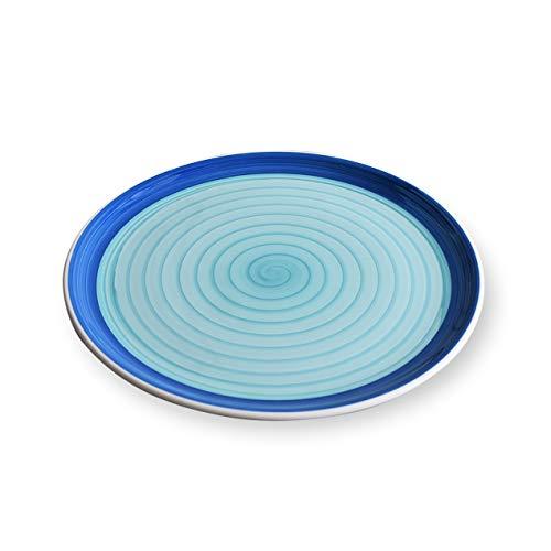 Zafferano Serie Spirale, Piatto Pizza in Ceramica, Decorato a mano, Made in Italy, Lavabile in...