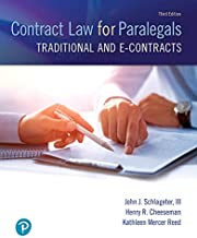 Contract Law for Paralegals: Traditional and e-Contracts (3rd Edition)