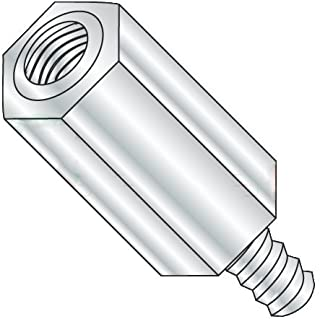 0.25 OD #6-32 Screw Size Hex Standoff 1.437 Length, Pack of 5 Female Stainless Steel