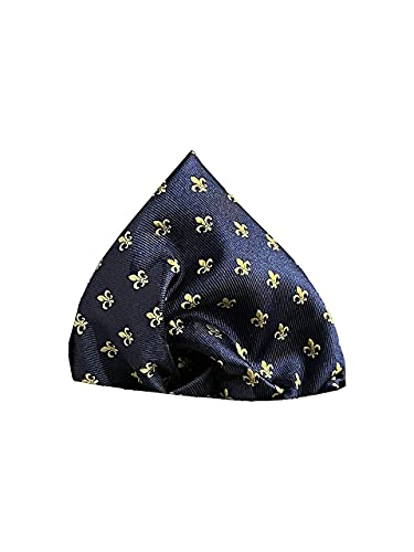 PB Pietro Baldini fazzoletto da taschino in diversi colori per uomo – fazzoletti in seta intrecciata – come complemento alle nostre cravatte – 25 x 25 cm, Blu/Oro,