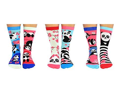 Panda Bamboozle Oddsocks Socken mit Bambus-Viskose in 37-42 im 6er Set - Strumpf