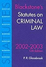 Statutes on Criminal Law (Blackstone's Statute Book Series)