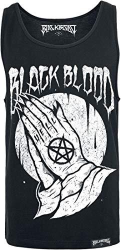 Black Blood by Gothicana Praying Hands Homme Débardeur Noir L, 100% Coton, Regular/Coupe Standard