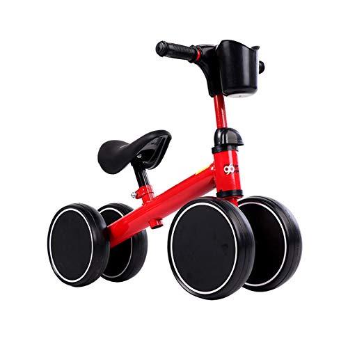 DDXY-Bicicleta Triciclo para Bebés Y Niños Pequeños Sin Pedales 10-36 Meses,Bicicleta Equilibrio Ride-On Toys Regalos Interior Exterior para Niños de Un Año Niñas Primer Cumpleaños,Rojo