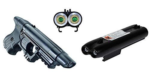 KOSxBO® Set Pfefferspraypistole JPX inkl. Pfefferspray Magazin 2X 10ml Ladung Jet Protector + 2X KOS24 Zielscheiben
