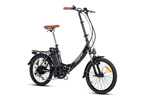 Moma Bikes E- Bike 20.2 Bicicleta Plegable electrica, Adultos Unisex, Negro, Unic...
