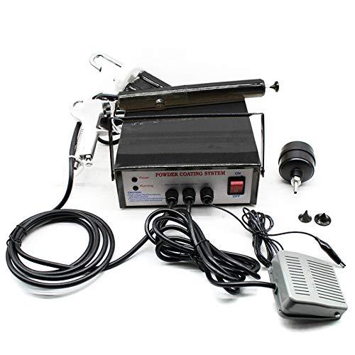 Paint Gun, TBVECHI Powder Coating System Machine Electrostatic Powder Coating Kits w/Foot Switch Aint Spray Gun PC03-5 CE 110V