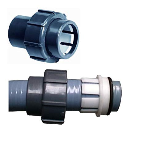 Sibo/ Aquaforte Poolschlauch Anschluss Flexfit von 50 mm Klemme Kupp. PVC 50 Spl x 50 Klemm