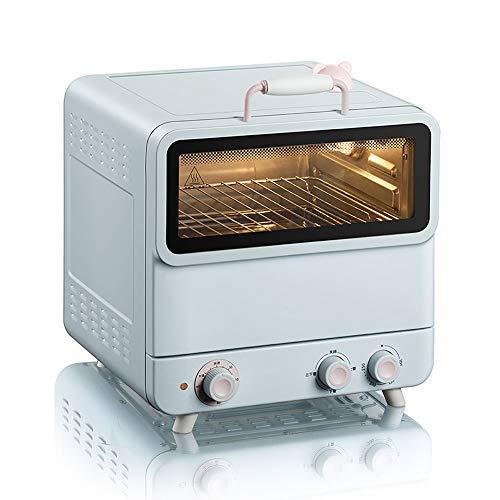 QJJML Horno A Vapor,Horno EléCtrico PequeñO Completamente AutomáTico Multifuncional para El Hogar,DiseñO Doble Capa 20L Gran Capacidad, Ajuste Temperatura 100-250 ° C,Temporizador De 60 Minutos