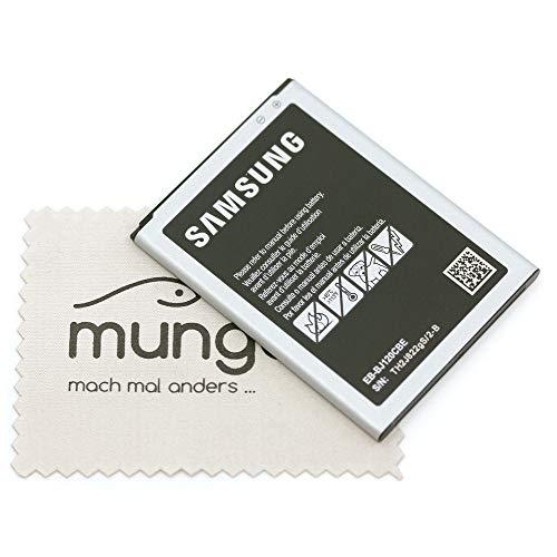 Akku für Samsung Original EB-BJ120BBE für Samsung J120F Galaxy J1 2016 mit mungoo Displayputztuch