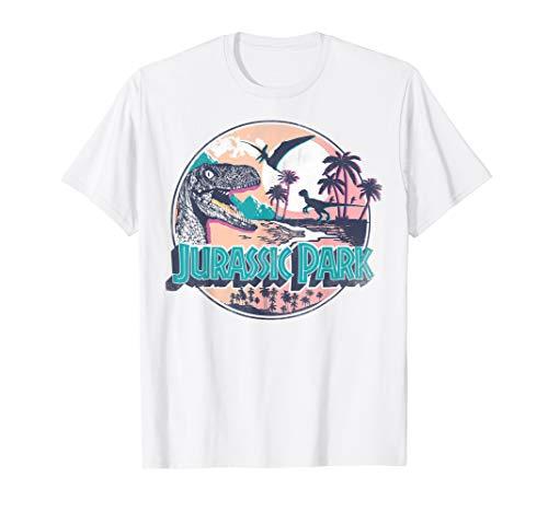 Jurassic Park Raptor Island Style Logo T-Shirt