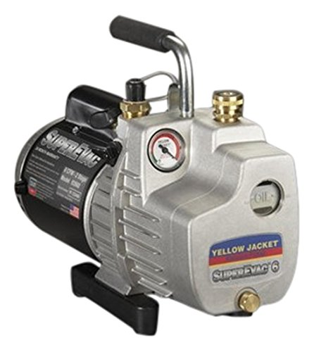 YELLOW JACKET 93560 Superevac Single Phase Pump, 6 Cfm, 115V, 60 Hz