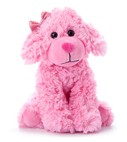 The Petting Zoo Scruffy Dog Stuffed Animal, Gifts for Girls, Pink Dog Plush Toy, 11 Inches