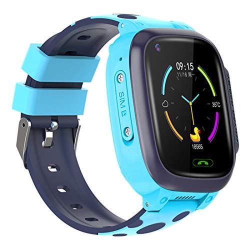 AOJU Reloj Inteligente niños para Niños Niñas - Niños Impermeable SmartWatch con GPS + WiFi + LBS + GPRS + SOS de Llamada + Alarma + cámara + Juegos/Música, para niños de 4-15 Estudiantes