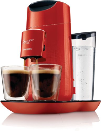 Philips HD7870/81 Senseo Twist - Cafetera de monodosis (comandos táctiles, intensidad regulable), color rojo