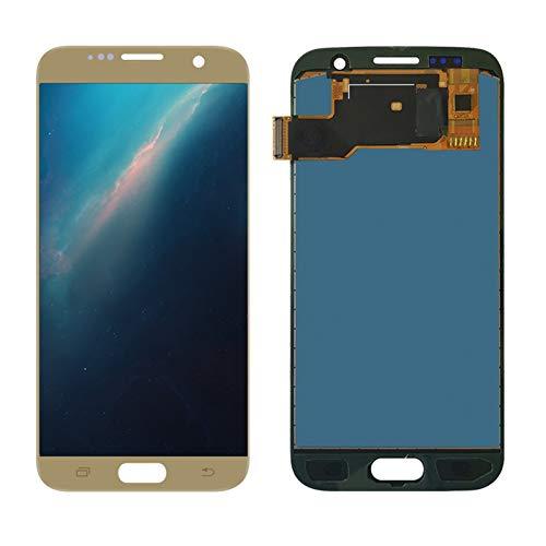 WSNDY Ajuste para Samsung Galaxy S7 SM-G930 Pantalla táctil digitalizador Asamblea Accesorios para teléfono móvil Pantalla reemplazada (color dorado)