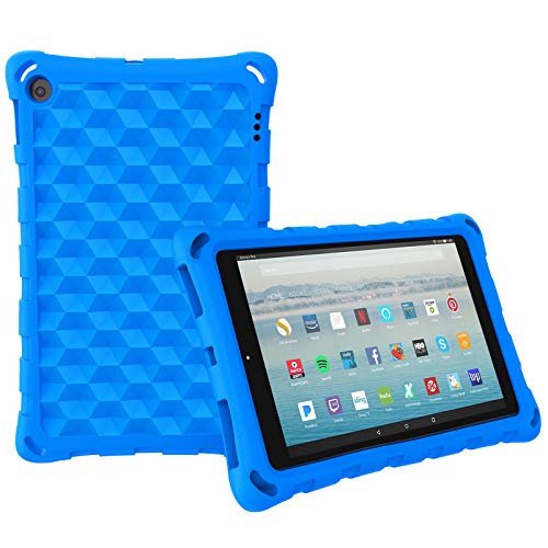 All-New Amazon Fire HD 10 Tablet Case (2019 2017 2015 Released)-Mr.Spades [Adult Friendly] [Kids Friendly] [Four Corner Protection] Light Weight Shock Proof Back Cover for Fire HD 10.1' Tablets, Blue