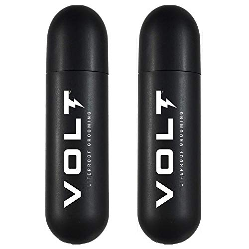 VOLT Grooming Instant Beard Color ECO 2 Pack Refill - Smudge and Water Resistant Quick Drying Brush on Color for Beards and Mustaches, Ebony (Brown/Black)