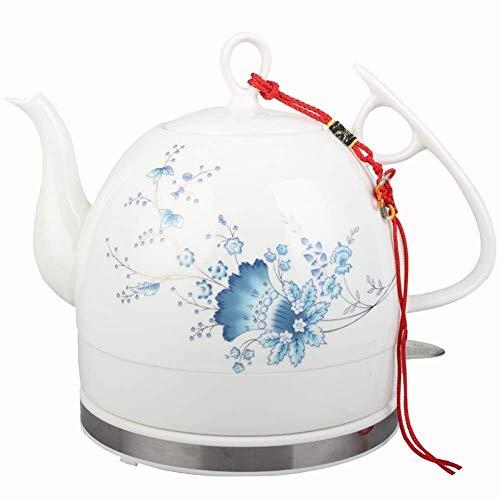 Bouilloires en céramique bouilloire électrique sans fil eau Teapot, Teapot-rétro 1.2L Jug, 1000W rapide 8bayfa