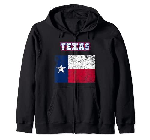 TEXAS The Lone Star State Estados Unidos América Sudadera con Capucha