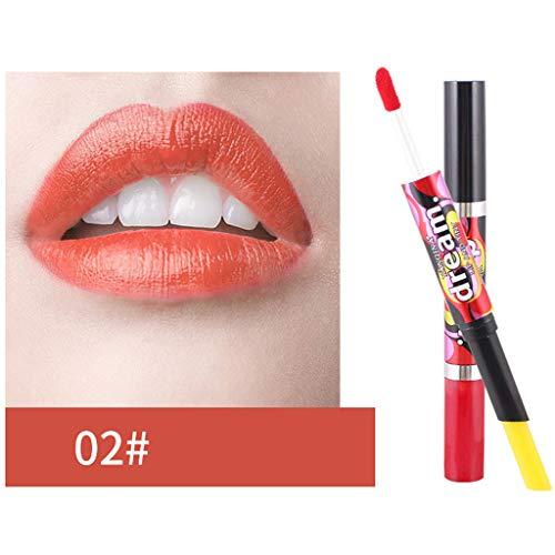 LILICATღDécoloration Rouge à Lèvres Femmes Nouvelle Mode Gradient Couleur Mat Rouge à Lèvres Crayons Beauté Maquillage Rouge à Lèvre Matte,Double-Fin Lining Durable imperméable Lip Liner Stick Pencil