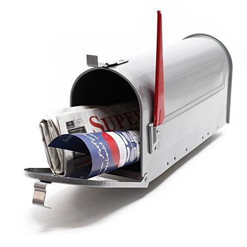 Buzón US Mail diseño americano Plateado decorativo Correo Postal Soporte de pared pie