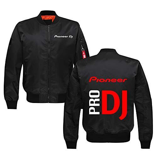WenWiuir Pioneer Pro DJ Pullover Prendas de Vestir Exteriores for Hombre Ocasionales Flojas con Cremallera Capa Caliente Collar de pie con Estilo de la Chaqueta de piloto Unisex