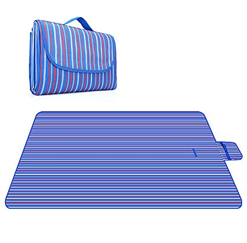Manta de Picnic Impermeable Plegable Anti-Calor para Camping Playa Alfombra Estera del Césped de la Salida de la Primavera de la Comida Campestre del Paño de 600D Oxford,002,150 * 200cm