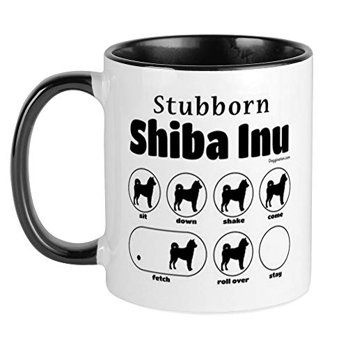 CafePress - Stubborn Shiba Inu 2 Becher - Einzigartige Kaffeetasse, Kaffeetasse, Teetasse