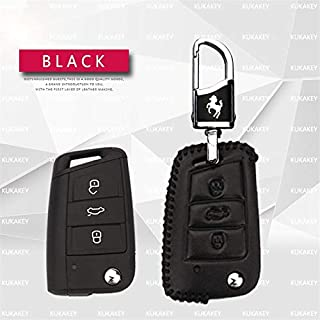 Genuine Leather Car Key Case Cover for Seat Leon 2 FR Cupra Mk3 5f Altea Ibiza