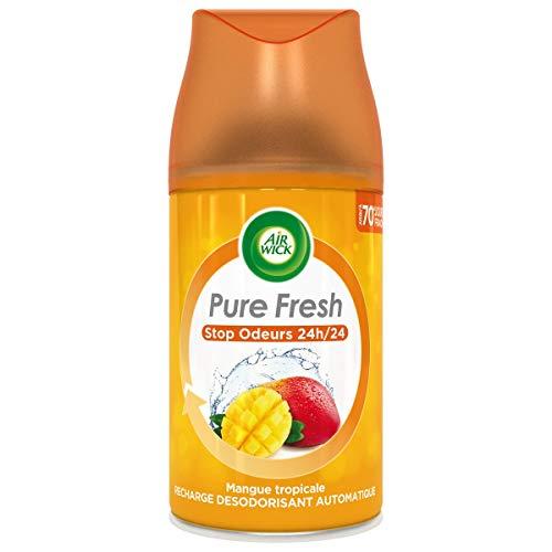 Air Wick - Desodorante para casa (recambio para difusor freshmatic mango tropical, 250 ml, lote de 3 unidades)
