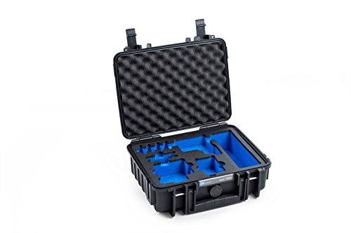 BundW Outdoor Hülle Hartschalenkoffer Typ 1000, Inlay für: GoPro Hero 5 / 6 / 7 & Zubehör (Hardcase Koffer IP67, wasserdicht, Innenmaß 25x17,5x9,5cm, Schwarz)