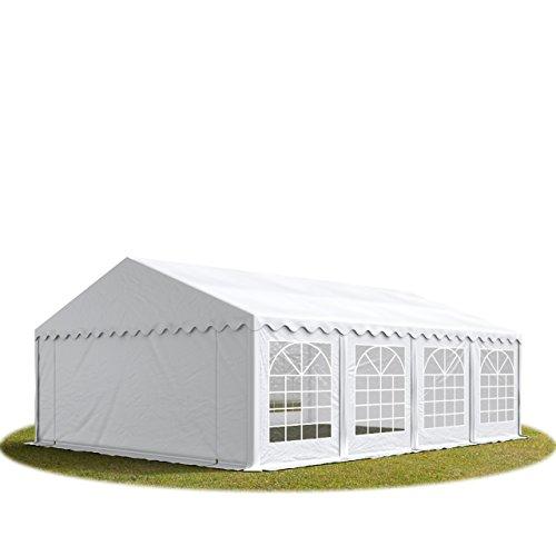 TOOLPORT Party-Zelt Festzelt 6x8 m Garten-Pavillon -Zelt ca. 500g/m² PVC Plane in weiß Wasserdicht