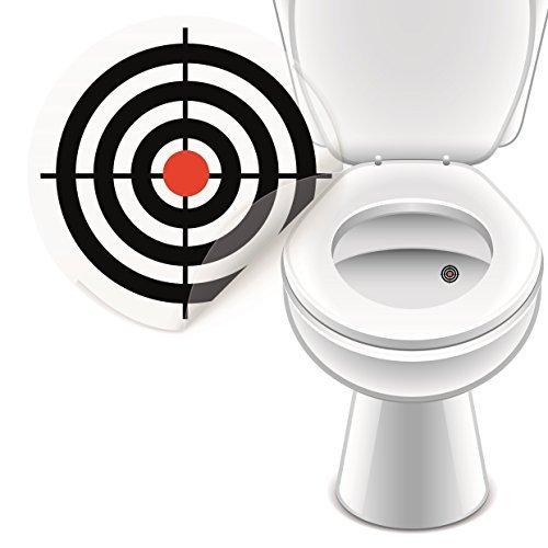WC Aufkleber Bullauge Zielscheibe, Toilettensticker Badausstattung 4er Set- LK-Trend & Style