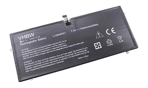 vhbw Li-Polymer Akku 7400mAh (7.4V) für Notebook Laptop Lenovo Yoga 2 Pro 13.3