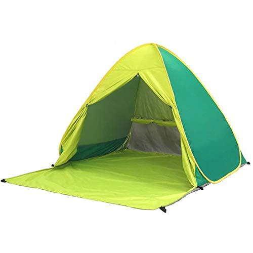 XZANTE Tente de Plage Ultra LéGèRe Tente Pliante -Up Automatique Tente Ouverte Famil Le Voyage Poissons Camping Anti-UV Plein Parasol Vert